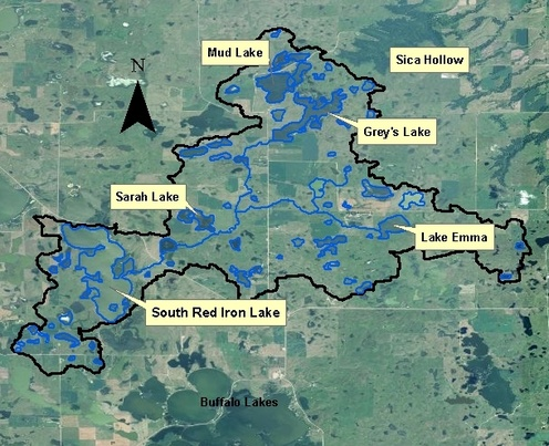 Northeast South Dakota Glacial Lakes Watershed  Red Iron Lake